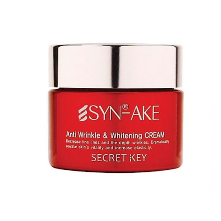 Крем для лица с пептидом змеиного яда SYN-AKE Anti Wrinkle & Whitening Cream Крем для лица с пептидом змеин. яда SYN-AKE Anti Wrinkle & Whitening Cream, 50 мл